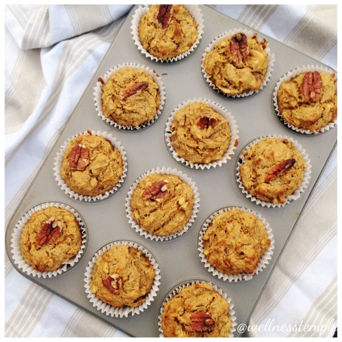 Banana, Carrot and Date Muffins