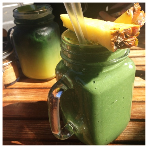 Glowing Green Cconut Smoothie - Wellness Temple